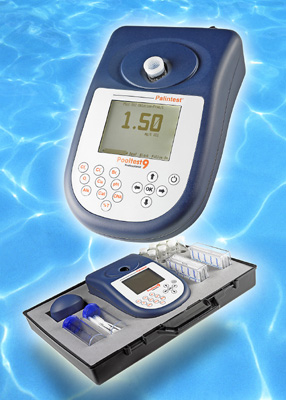 All the water parameters that need regular checking in pools treated with chlorine, bromine or ozone can be measured quickly, easily and accurately. The tests cover free and total chlorine, total bromine, ozone, pH, copper, alkalinity, calcium hardness and cyanuric acid.
